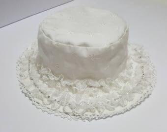 Romantic battenburg lace Cap