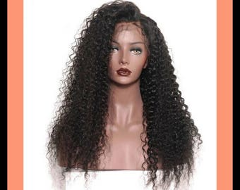 Curly Brazilian Lace Front Human Hair Wig