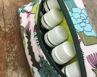 Essential oils pouch, small zipper pouch, zipper pouch