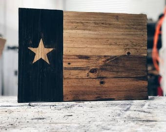 Reclaimed Wood Texas Flag