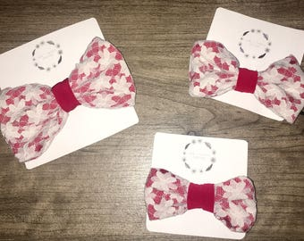 Red and White Lace Bow