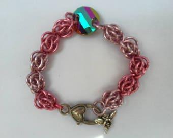 Pink Sweet Pea Bracelet