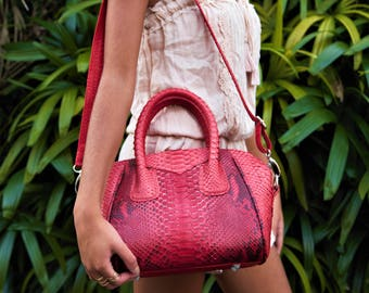 Snakeskin Bag, Python Bag, Leather Handbag, Snakeskin Leather, Snakeskin Handbag, Python Handbag, Snake Skin Bag