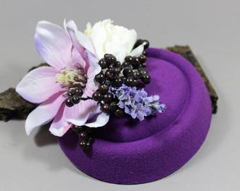 "Hat/Headpiece/fascination ""Purple Dream"""