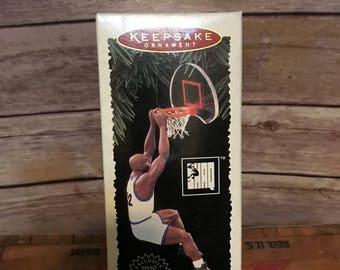Vintage 90s Hallmark Shaquille O'Neal Keepsake Ornament