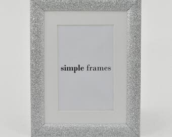 Silver Sparkle A5 Frame with Mount - Sparkle Collection