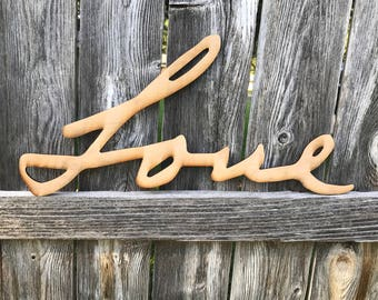 Custom Handwriting Word Art, Wood Cut Out Handwriting, Custom Handwritten Sign, Personalized Handwriting, Personalized Gift, Word Wall Art