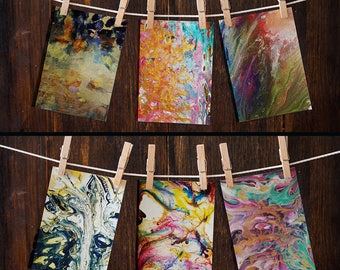 Mini Prints/Cards (6 Pack) - Abstract Art