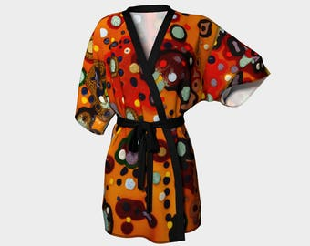 Orange Spots Kimono Robe: You will get lots of comments on this robe if you buy it!