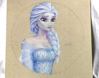 Ice Queen Elsa Illustration - Print