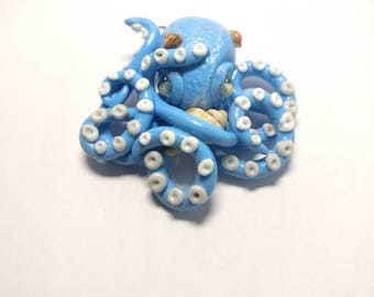 Blue octopus charm