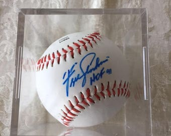 Signed Fergie Jenkins Baseball 1991 HOF Baseball Collectible