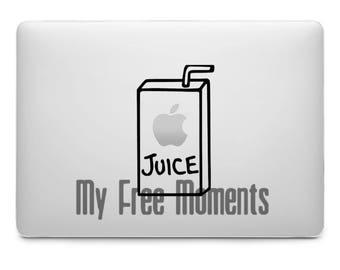 Apple Juice Laptop  Decal// Juice Box Decal