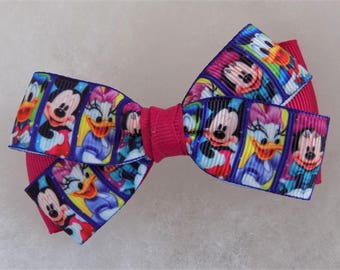 Disney Hair Bow - Girl's Hair Bow, Hair bow, Mickey and Minnie Bow, Donald Duck bow, Daisy Duck hair bow, Hair bow for toddler, Hair clip
