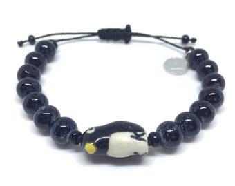 Bracelet Be my penguin - bead bracelet - charm bracelet