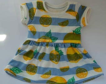 Lemon dress - baby dress - ready to ship dress