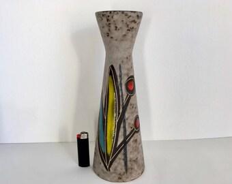 Scheurich vase, Scheurich 520-32  Heinz Siery fat lava vase German ceramic pottery vase 60s, modernist design home decor