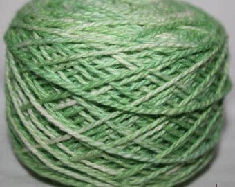 Green Cotton Yarn, DK Cotton Pack of 12 balls, DK wool, Pure cotton Yarn, Green Hand Dyed, Gift for Knitter, Knitting yarn, Green wool, Pack