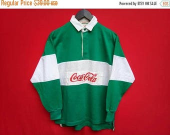 vintage Coca Cola Rugby medium size