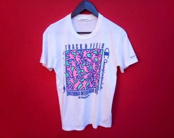 vintage champion product mens t shirt