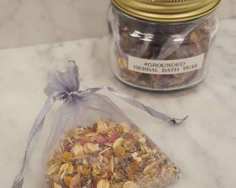Herbal Bath Tea #GROUNDED - 1 bath tea