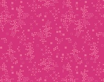 Art Gallery Fabrics, Tallinn, Jessica Swift, Sofia Sunrise, Folk Fabric, Hot Pink Blender, Pink Fabric, TAL-75303