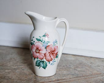 Antique Royal Copley Floral Pitcher Small - Soooo Femme CHIC!!