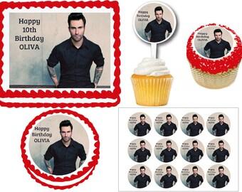 Adam Devine Etsy - Adam levine birthday cake