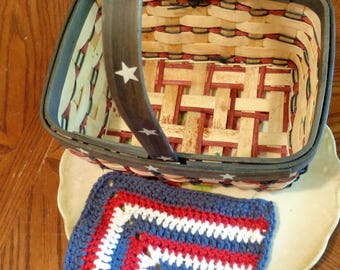 USA, 4th of july, red dishcloth, white dishcloth, blue dishcloth, independence day, home decor, kitchen decor, cute dishcloth