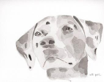 Dalmatian. Original watercolor
