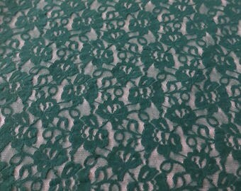 green stretch flower lace! 4 way stretch! Free shipping!