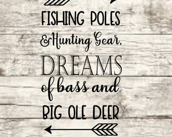 Fishing & Hunting Dreams SVG NEW