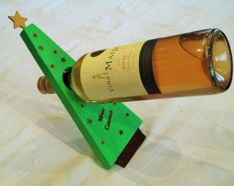 Christmas Tree Balancing Wine Bottle Holder