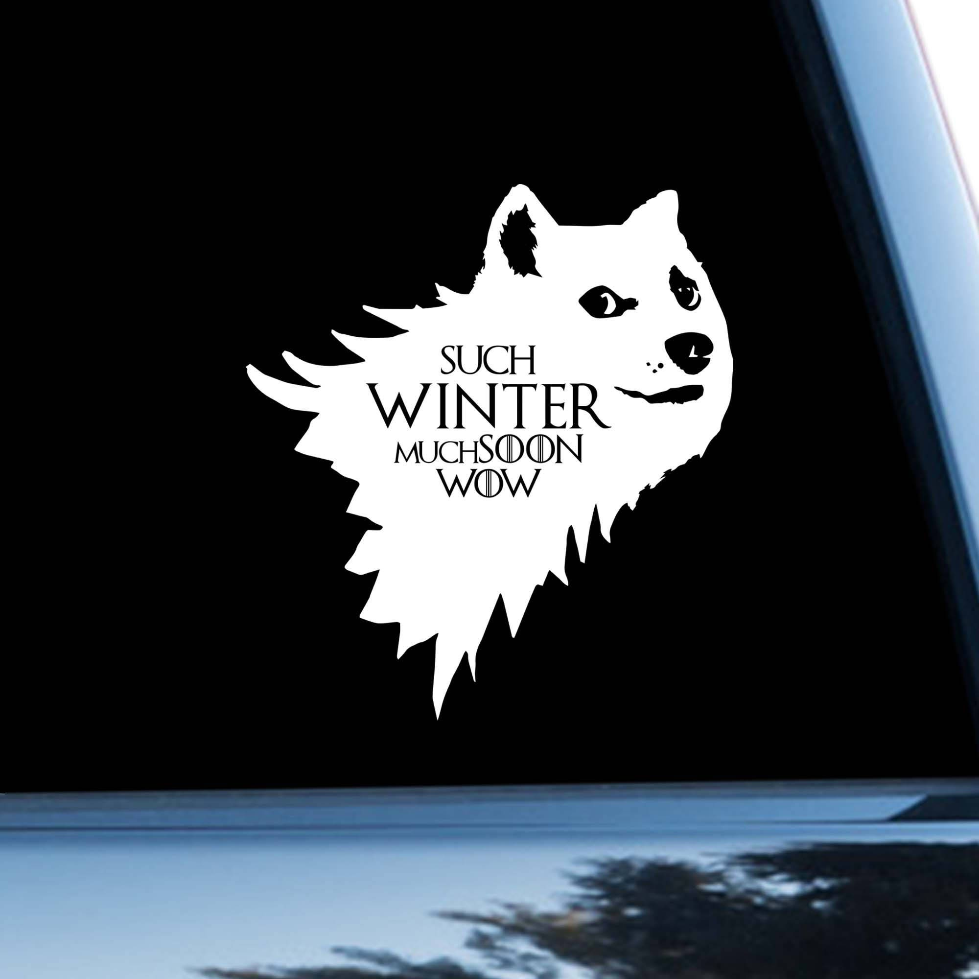 game of thrones car sticker dog car decal dire wolf doge