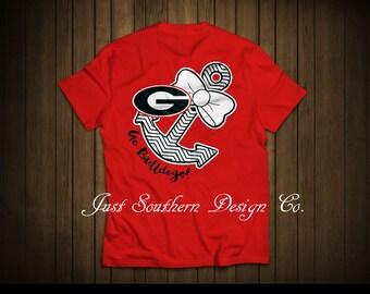 Georgia Bulldog Anchor t-shirt