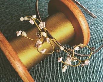 Vintage Inspired Wax Flower Headpieces