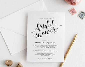 Bridal Shower Invitation Template | Printable Bridal Shower Invitation | DIY Bridal Invitation | Wedding Template | Mr. and Mrs. Collection