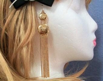 Miriam Haskell goldtone tassel earrings