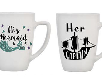 Mermaid & Captain Mugs
