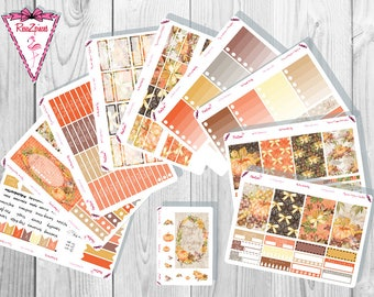 Fall Pumpkin Weekly Kit - Happy Planner
