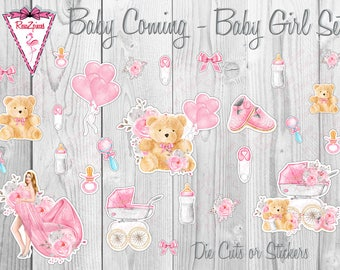 Baby Coming - Die Cut / Sticker Sets