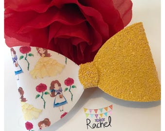Beauty & The Beast Inspired Bow