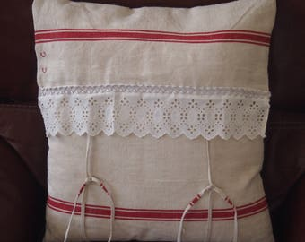 Vintage and lace pillow