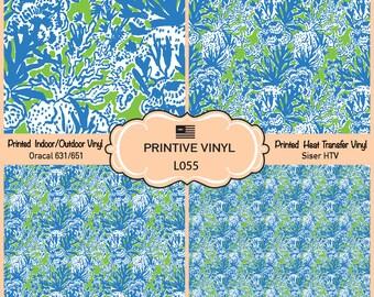 Lilly P inspired Undersea Paradise Vinyl/Siser HTV/ Oracal/ Indoor Vinyl/ Outdoor Vinyl/ Heat Transfer Vinyl- L055