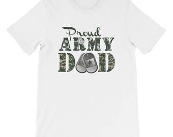 Proud Army Dad T-shirt - Army T-shirt - Military T-shirt