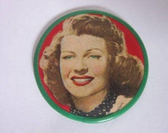 1930's Movie Star Rita Hayworth Pocket Mirror