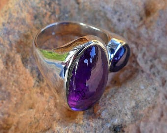 Amethist ring silver / Amethyst silver ring