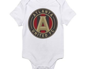 Atlanta United Football Club FC Logo Baby Onesie