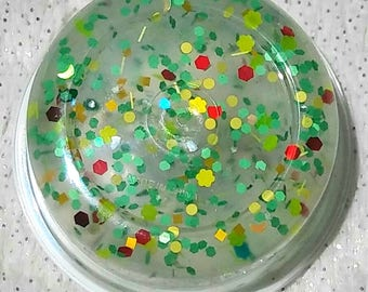 Tropical Punch Clear Glitter Slime