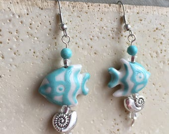 Turquoise Fish Earrings